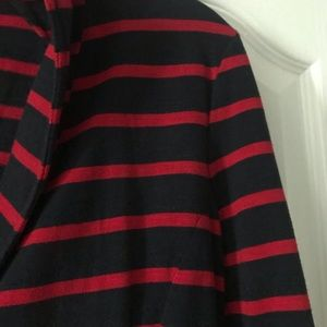 J. Crew Jackets & Coats - J. Crew Maritime Stripe Knit Jacket Blazer Red S